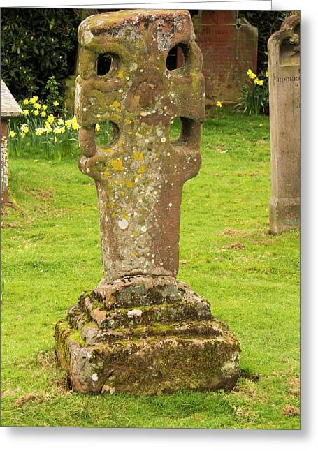 An Ancient Stone Cross Greeting Card