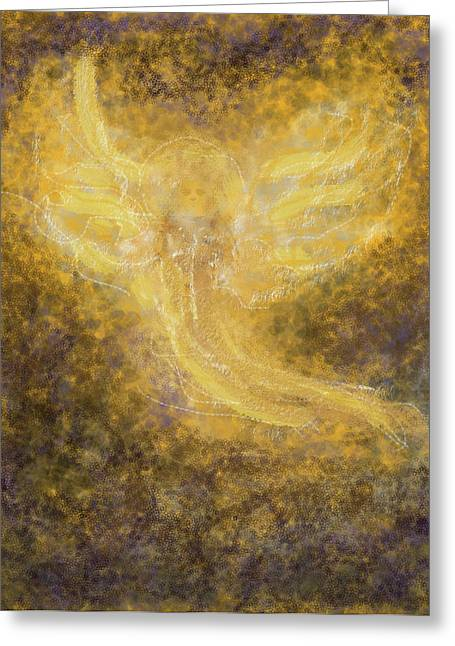 An Angel I Know Greeting Card by Anne Cameron Cutri