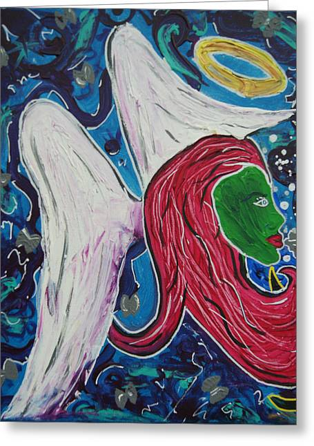 An Angel's Kiss Greeting Card by Lorinda Fore and Tony Lima