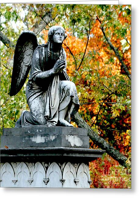 Greeting Card featuring the photograph An Angels' Prayer by Lesa Fine
