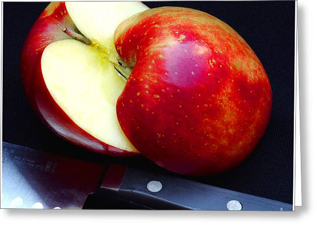 An Apple A Day Greeting Card by James C Thomas