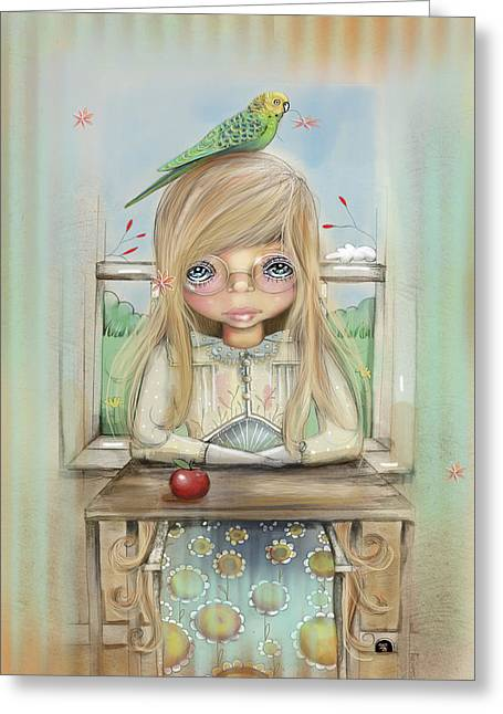 An Apple A Day Greeting Card by Karin Taylor