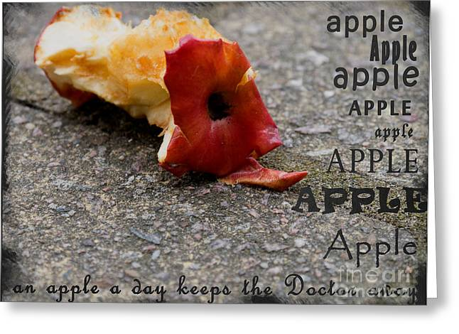 An Apple A Day Keeps The Doctor Away Greeting Card by Gillian Singleton