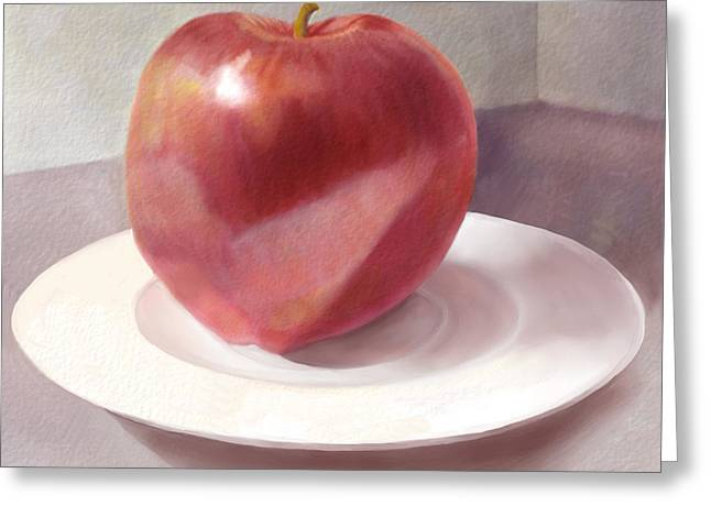 An Apple For Sue Greeting Card by Joan A Hamilton