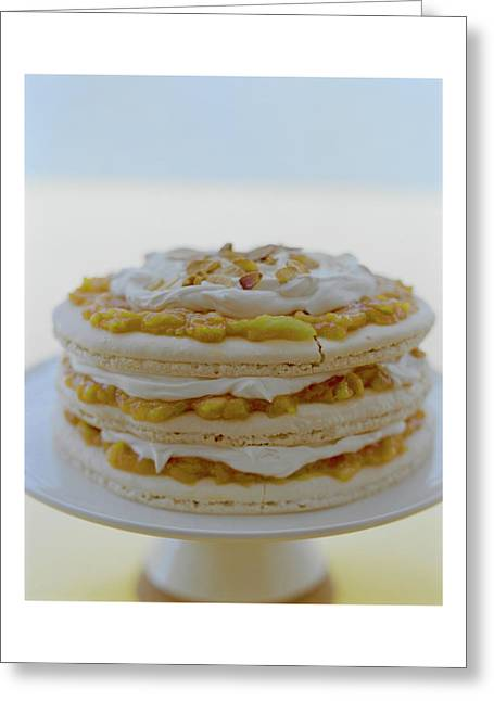 An Apricot Almond Layer Cake Greeting Card
