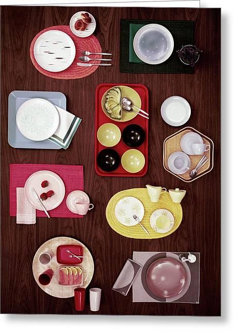 An Assortment Of Dinnerware Greeting Card