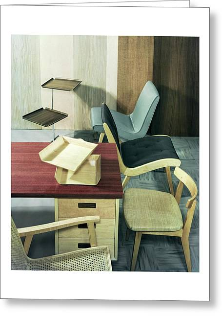 An Assortment Of Office Furniture Greeting Card