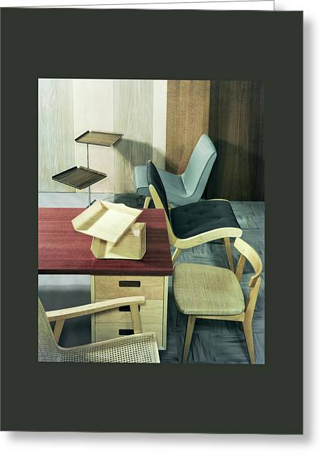 An Assortment Of Office Furniture Greeting Card by Wiliam Grigsby