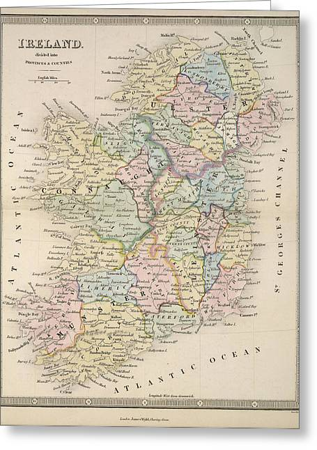 An Atlas Of Modern Geography: Ireland Greeting Card