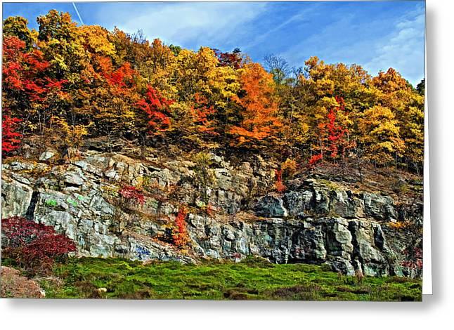 An Autumn Day Painted Greeting Card by Steve Harrington