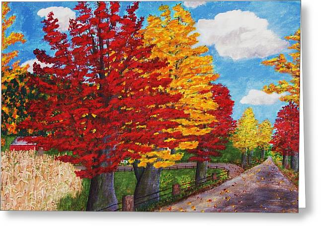 An Autumn Drive Greeting Card