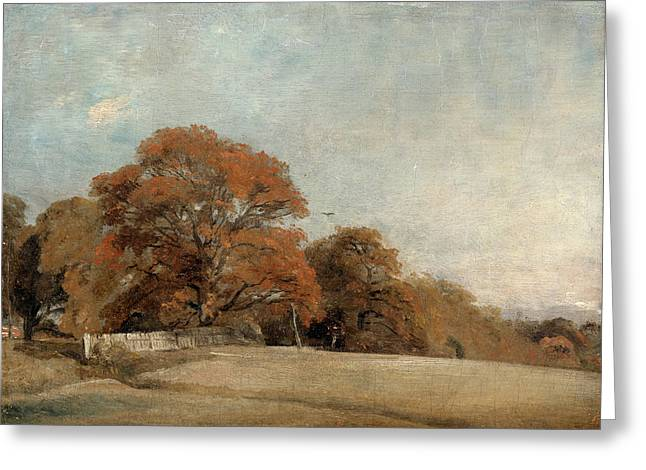An Autumnal Landscape At East Bergholt, John Constable Greeting Card