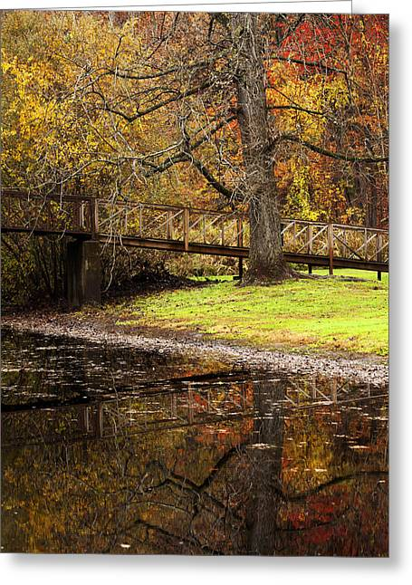 An Autumns Moment Greeting Card by Karol Livote