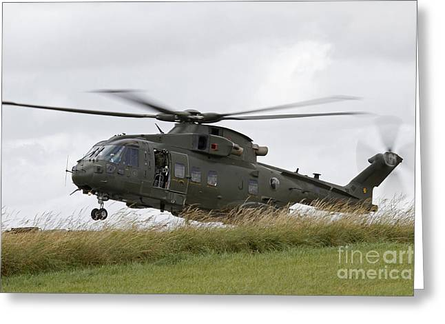 An Aw101 Merlin Helicopter Of The Royal Greeting Card by Ofer Zidon