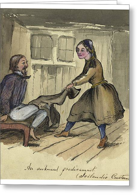 An Awkward Predicament Circa 1862 Greeting Card by Aged Pixel