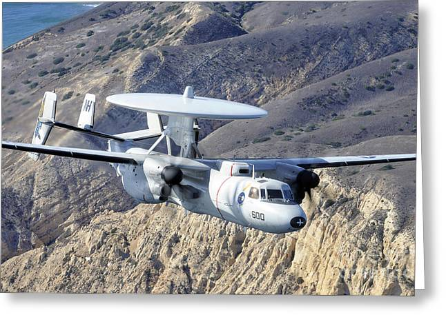 An E-2c Hawkeye Aircraft Flies Greeting Card by Stocktrek Images
