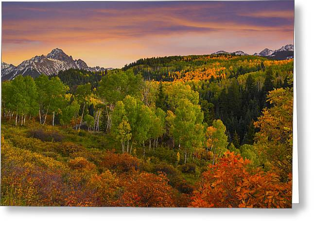 An Early Fall Morning Greeting Card by Tim Reaves