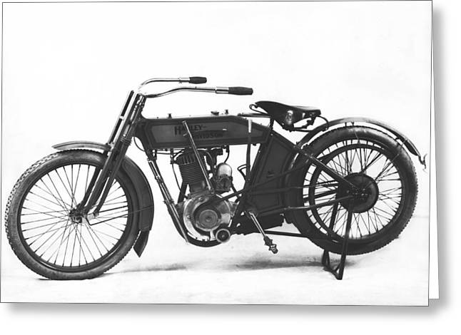 An Early Harley-davidson Greeting Card by Underwood Archives