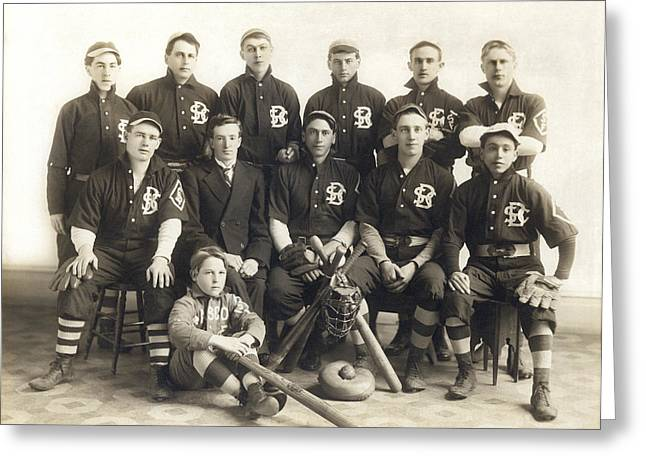 An Early Sf Baseball Team Greeting Card by Underwood Archives