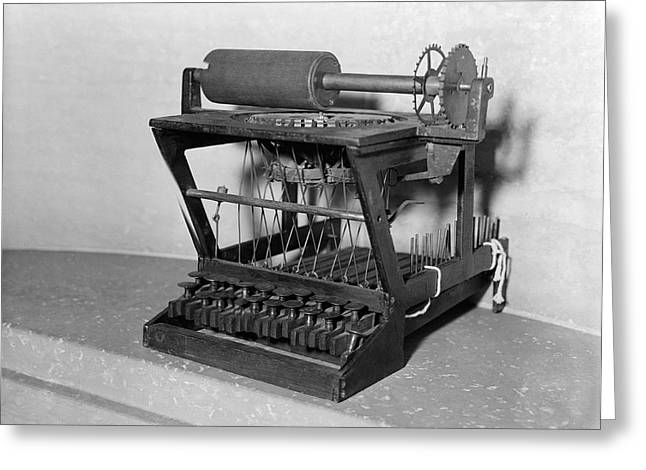 An Early Typewriter Greeting Card by Underwood Archives