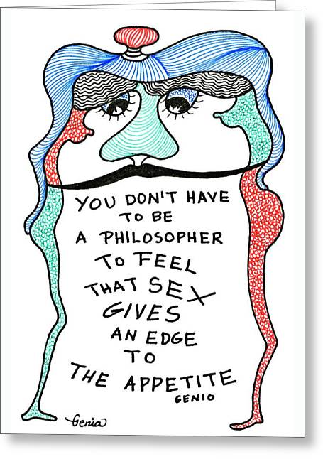 An Edge To The Appetite Greeting Card by Genia GgXpress