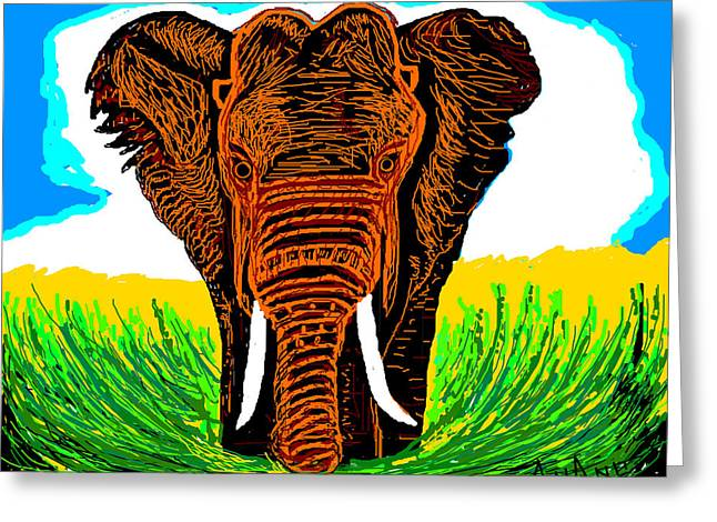 An Elephant-3 Greeting Card by Anand Swaroop Manchiraju