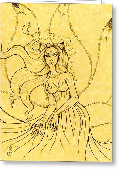 An Enchanting Breeze Sketch Greeting Card by Coriander  Shea