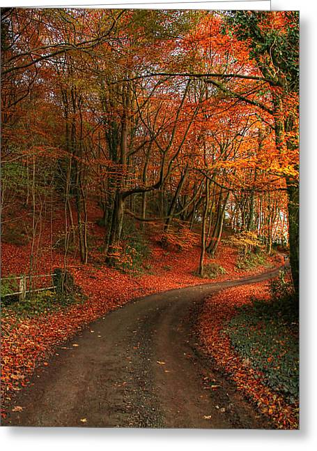 An English Autumn Greeting Card
