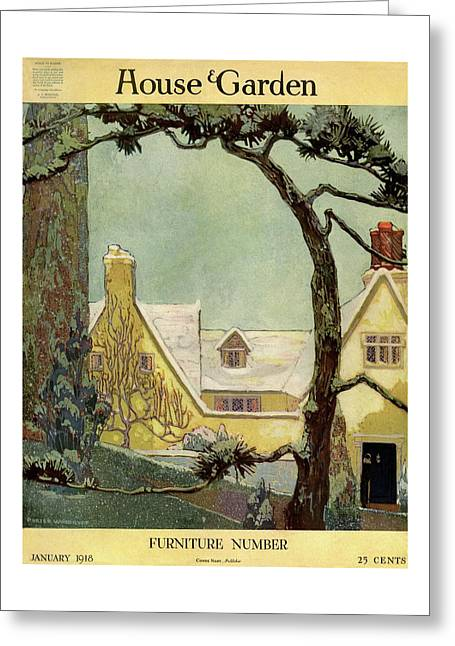 An English Country House Greeting Card