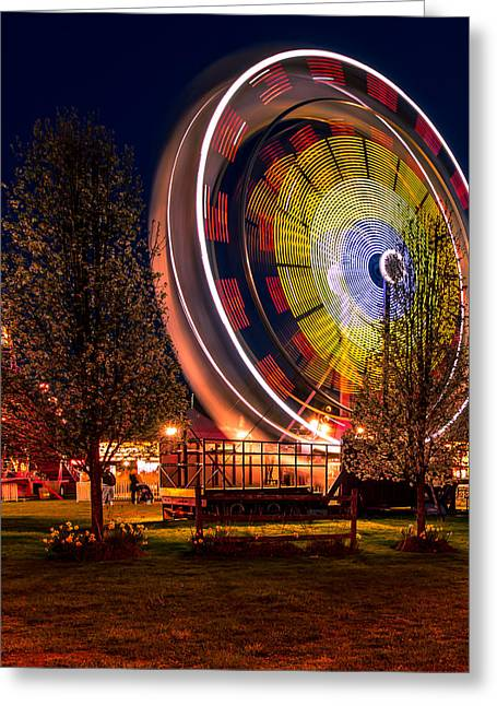 An Evening At The Fair Greeting Card by David Hahn