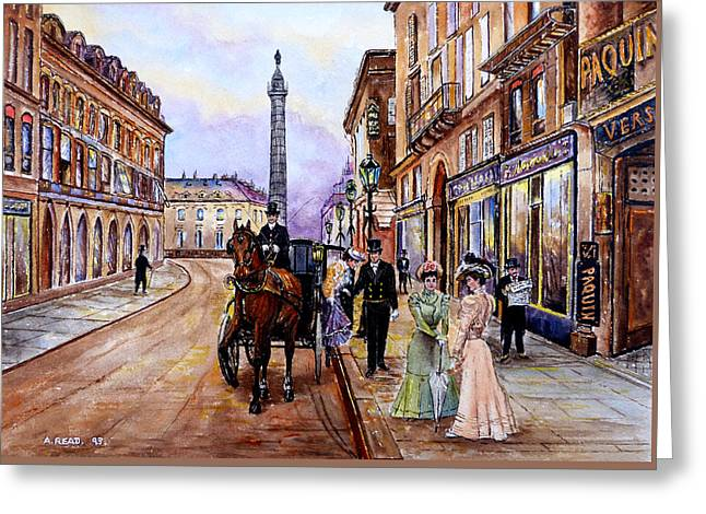 An Evening Out Greeting Card by Andrew Read