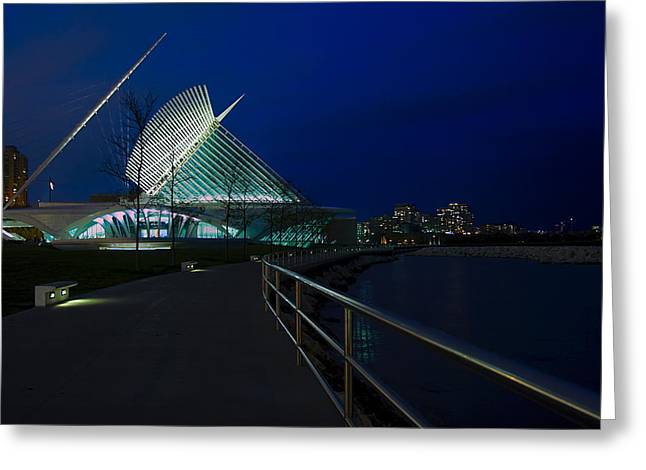 An Evening Stroll At The Calatrava Greeting Card