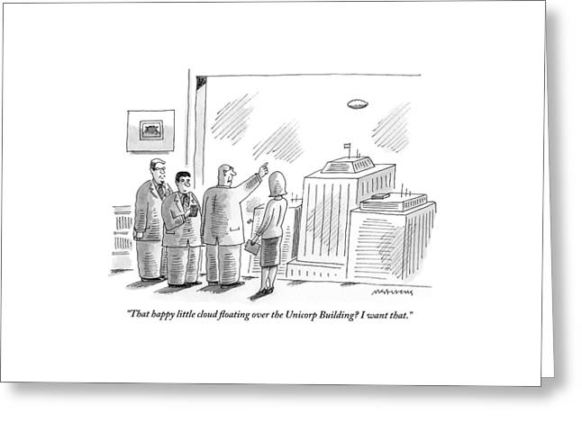 An Executive Greeting Card by Mick Stevens