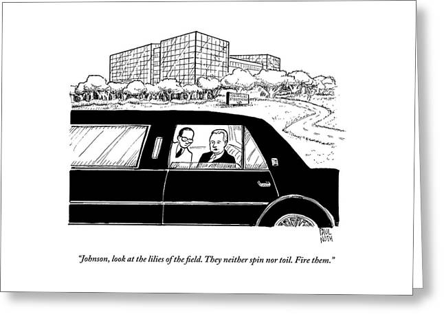 An Executive Speaks To His Employee In The Back Greeting Card