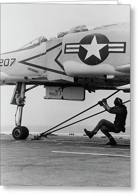 An F-4b Phantom II Fighter Plane Greeting Card by Stocktrek Images