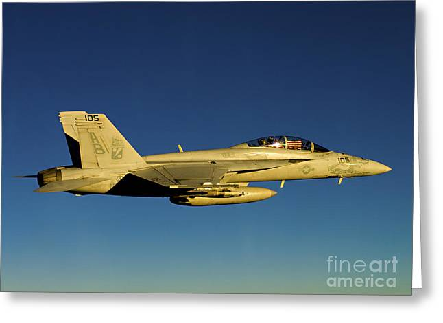 An Fa-18f Super Hornet Displays Greeting Card by Stocktrek Images