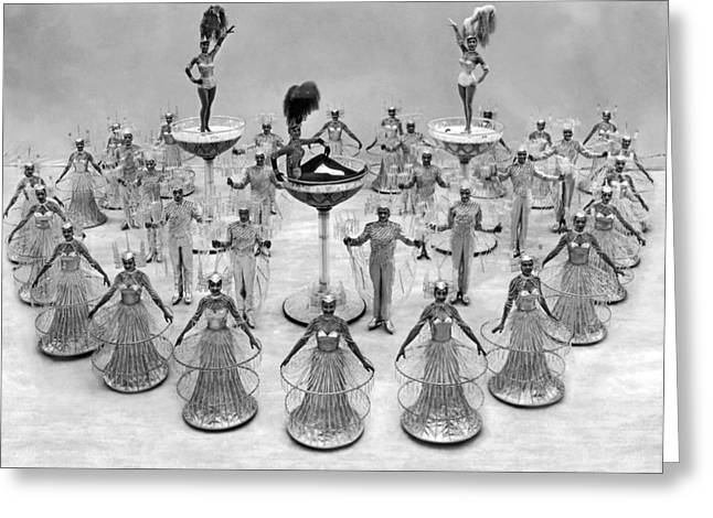 An Ice Skating Chorus Review Greeting Card by Underwood Archives