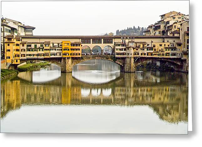 An Icon Of Florence -ponte Veccio Greeting Card