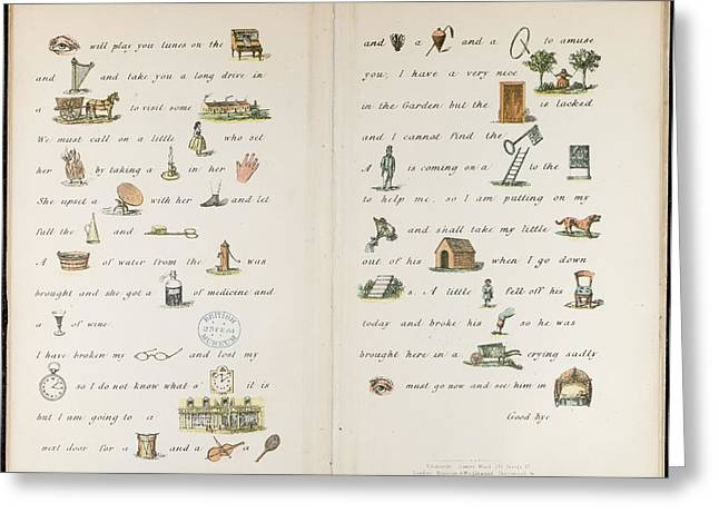 An Illustrated Letter Greeting Card by British Library