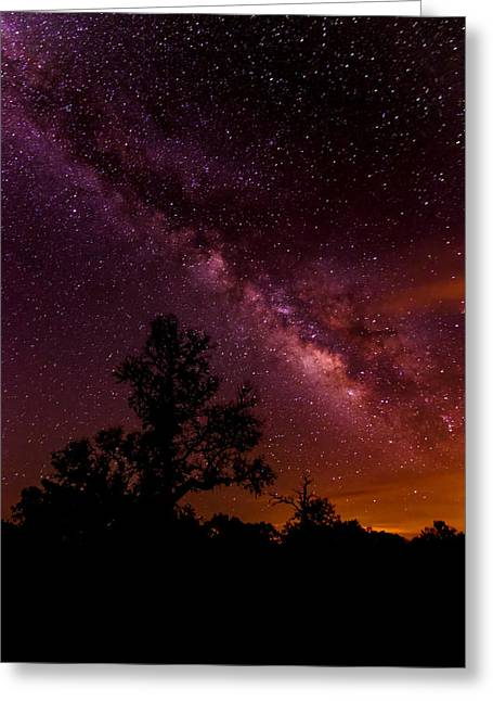 An Image Worth 520 Miles - Milky Way At Enchanted Rock Texas Hill Country Greeting Card by Silvio Ligutti