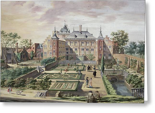 An Imaginary View Of Het Tolhuis Greeting Card by Jacob van der Ulft