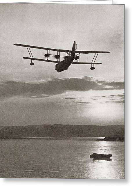 An Imperial Airlines Scipio Class Flying Boat C.1931.  From The Story Of 25 Eventful Years Greeting Card by American School