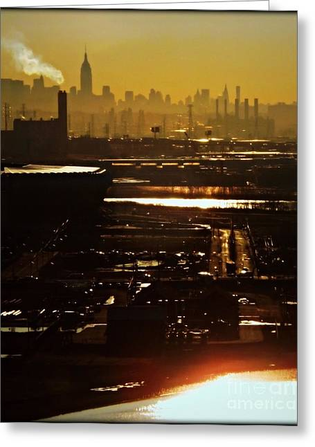 An Imposing Skyline Greeting Card by James Aiken