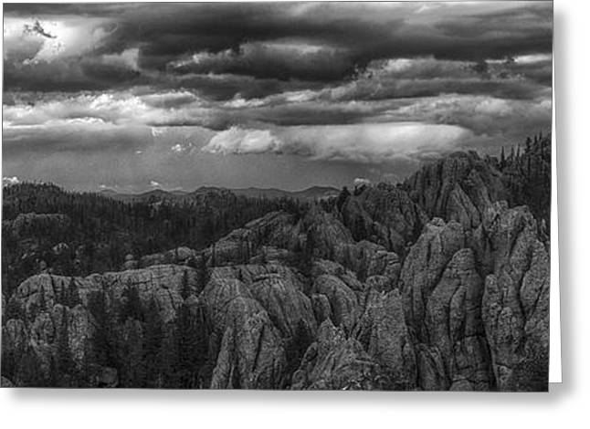 An Incoming Storm Over The Black Hills Of South Dakota Greeting Card