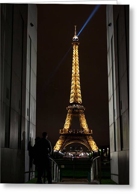 An Intimate Moment With Eiffel Greeting Card by John Daly