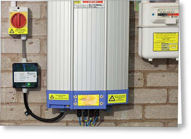 An Inverter For A Solar Panel System Greeting Card