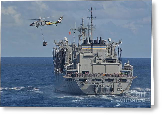 An Mh-60s Sea Hawk Conducts A Vertical Greeting Card by Stocktrek Images