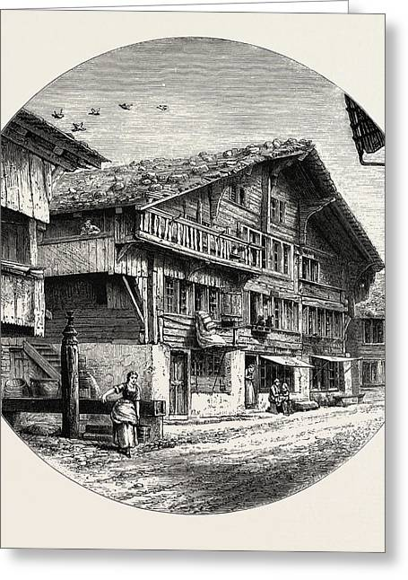 An Oberland Chalet, Bernese Oberland, Berner Oberland Greeting Card