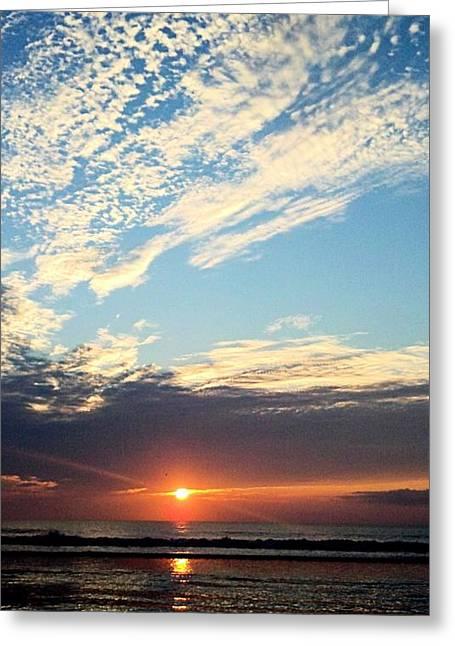 An Ocean And A Sunrise Greeting Card