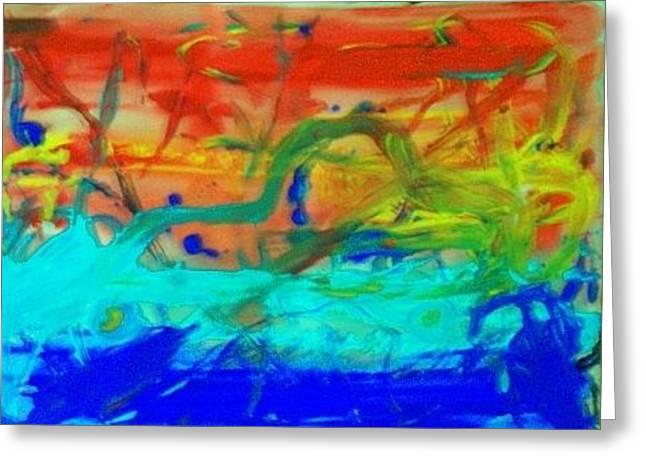 Greeting Card featuring the painting An Ocean Ride Horizon by Jonathon Hansen